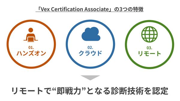 Vex Certification Associateの3つの特徴