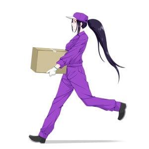 荷物を運搬するスミレ