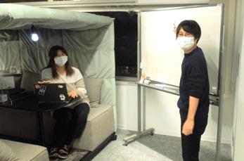 松田さんと本間さんの仕事風景