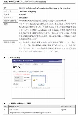 脆弱性修正箇所の特定と修正に必要な情報が記載された詳細レポート 2