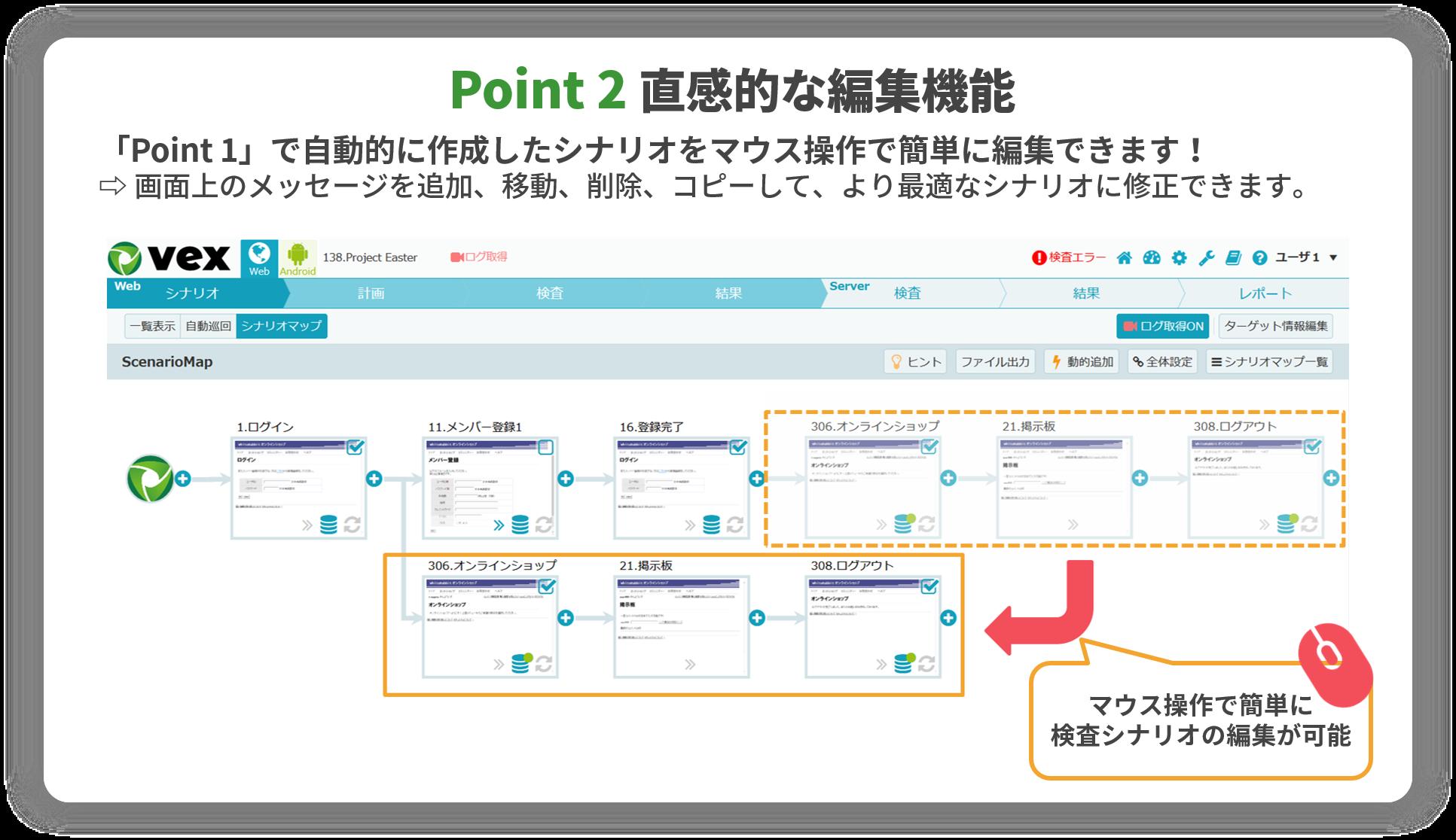 シナリオマップ機能のポイント2
